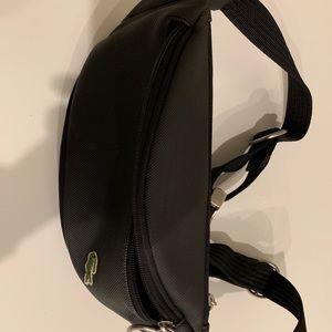 Lacoste hip bag, black, excellent condition.